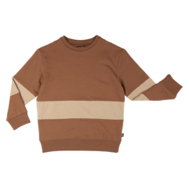 CarlijnQ sweater color block bruin