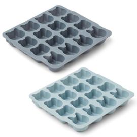 Liewood ijsblokvormpjes sonny - licht óf donkerblauw