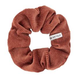Atelies des femmes scrunchie oranje ribstof Daphne