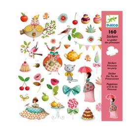 Djeco stickers prinsessen thee feestje