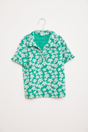 Fish & Kids polo green Flower - 2/3 jr.