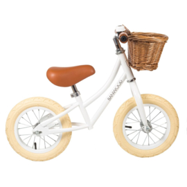 Banwood First Go balance loopfiets white