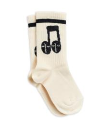 Mini Rodini sokken notes offwhite