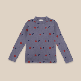 Bobo Choses longsleeve turtle neck all over night