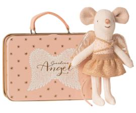 Maileg muis kleine zus guardian angel in koffertje