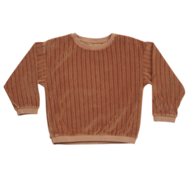 Blossom kids sweater velvet caramel fudge