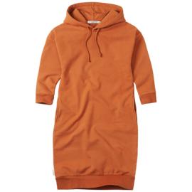Mingo hoodie sweater jurk dark ginger