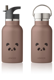Liewood water bottle drinkfles Panda dark rose