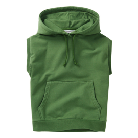 Mingo hoodie sleeveless moss green