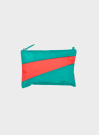 Susan Bijl pouch Seaweed & Red Alert