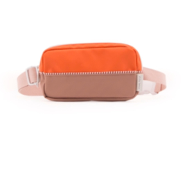 Sticky lemon fanny pack colour blocking Royal orange + chocolat au lait + pastry pink