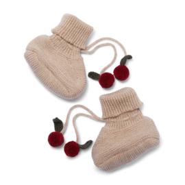 Konges slojd knit boots tomami paloma brown cherry