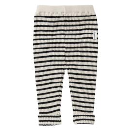 Mingo baby broekje stripes black / white