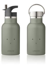 Liewood water bottle drinkfles Rabbit faune green