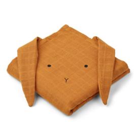 Liewood hydrofiele doek konijn mustard