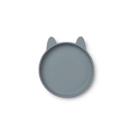 Liewood bord Olivia rabbit blue