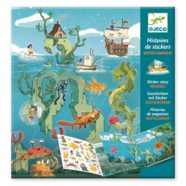Djeco stickerverhalen avonturen op zee