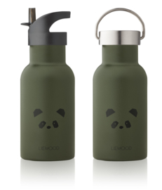 Liewood water bottle drinkfles panda hunter green