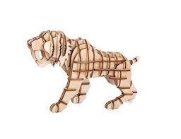Kikkerland Tijger houten 3D puzzel