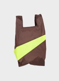 Susan Bijl the New shoppingbag Brown & Fluo bag | Mt. S/M/L
