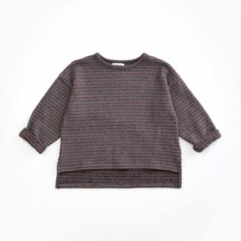Play up sweater purplewood stripe