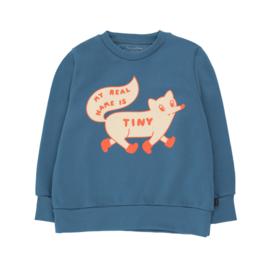 Tiny Cottons sweaer tiny fox sea blue/cream