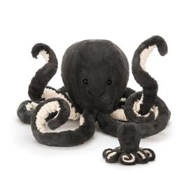 Jellycat Octopus Inky antraciet baby
