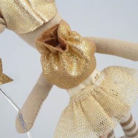 Maileg muis, tandenfee, meisje, metalen hartje