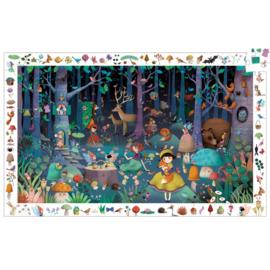 Djeco puzzel observatie betoverend bos - 100 stukjes