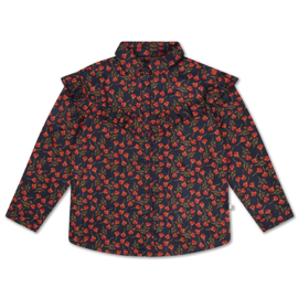 Repose AMS moony blouse liberty marine poppy