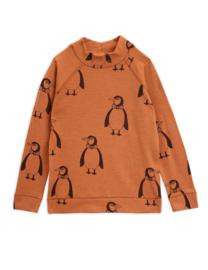 Mini Rodini longsleeve penguin wool brown