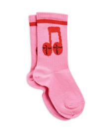 Mini Rodini sokken notes pink