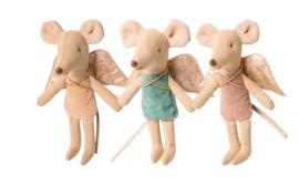 Maileg fairy muis, kleine zus - roze