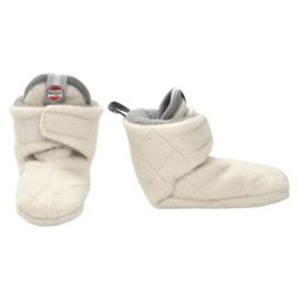 Lodger babyslofjes fleece Off-white | 12/18 mnd