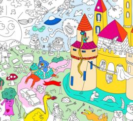 Omy maison grote kleurplaat Magic