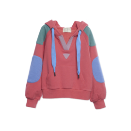 Wander & Wonder hoodie color block