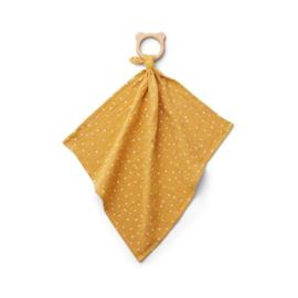 Liewood bijtring Dines knuffeldoek Confetti yellow