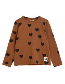 Mini Rodini longsleeve hearts brown