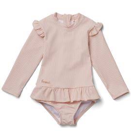 Liewood zwempak  Sille stripe coral blush/creme