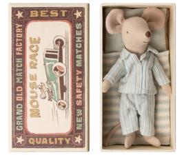Maileg muis grote broer in een doosje - pyjama