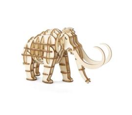 Kikkerland Mammoet houten 3D puzzel
