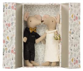Maileg muizen getrouwd stel in doosje