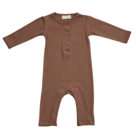 Blossom kids playsuit smoked hazelnut