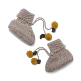 Konges slojd knit boots tomami creamy white lemon
