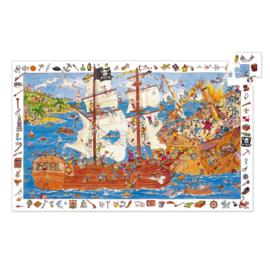 Djeco puzzel observatie piraten - 100 stukjes
