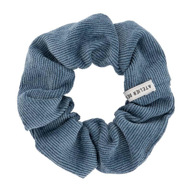 Atelies des femmes scrunchie ribstof blauw Marijn