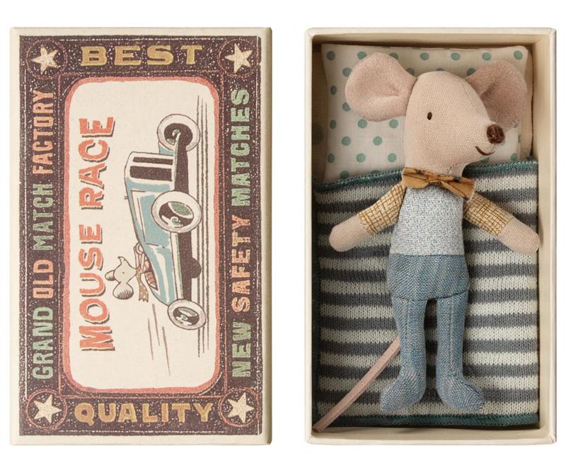 Maileg muis kleine broer in een doosje