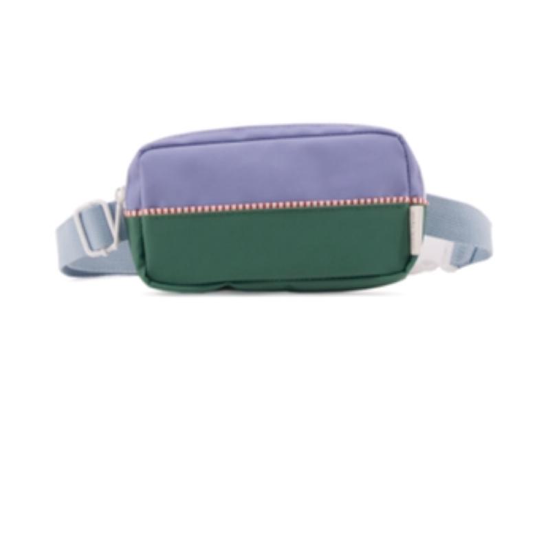 Sticky lemon fanny pack colour blocking Moustafa purple + movie green + hencles blue