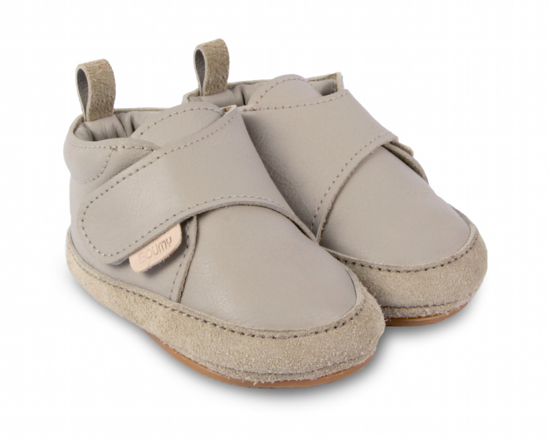 Boumy babyschoentje aki Light Stone Leather