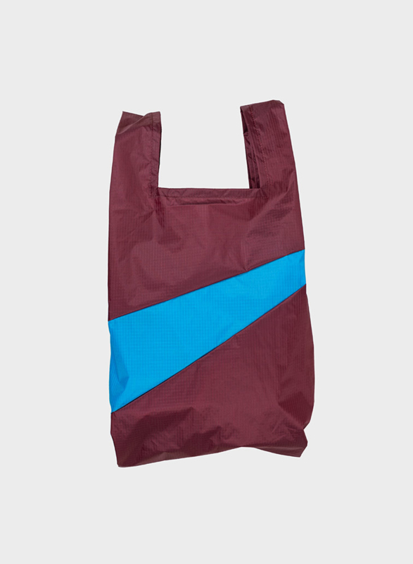 Susan Bijl the New shoppingbag Burgundy & Sky Blue | Mt. L